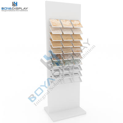 Elegant Style Showroom Standing Display Rack Holder For Stone Granite And Marble Tile