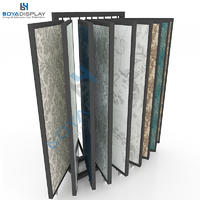 Customized L Type Page-Turning Wing Type Showroom Wallpaper Display Stands