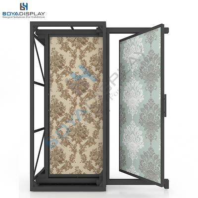 Rotating Type Display Stand Rack For Showroom Wallpaper Display Stands