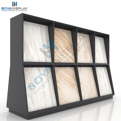 Factory Stone Tile Marble Sample Middle Island Display Cabinet Rack In China