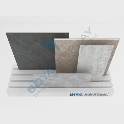 Customized High-Quality Latest Style Simple Stone Tiles Countertop Spinner Display Rack