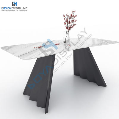 Practical Tile Stone Display Table Rack Metal For Exhibition