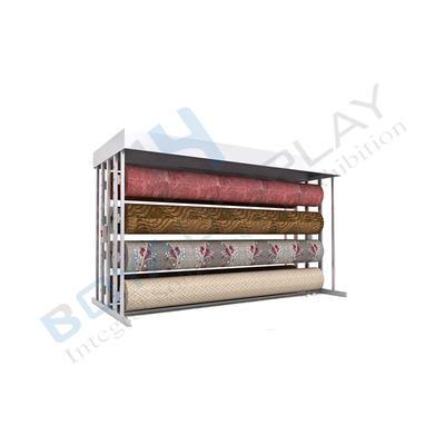 Customizable Fabric Rug Carpet Rack Sample Display Stand Rack Roll For Sale