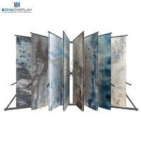 Newest Design Page-Turning Type Rug Fabric Carpet Storage Racks Stand Big Frame