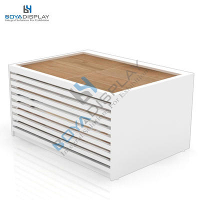 Economical Customized Parquet Flooring Tile Stone Sample Product Display Cabinet