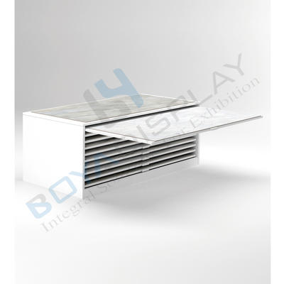 Hot Sale Ceramic Tile Floor Stone Drawer Product Display Cabinet