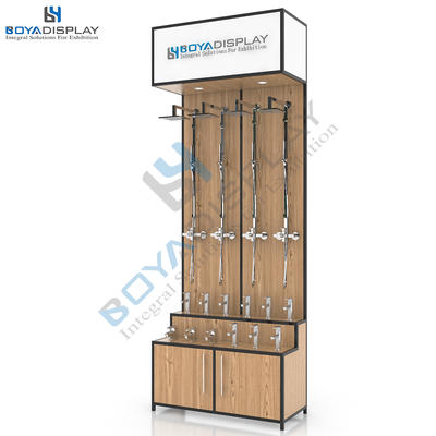 Fashion custom size tap shower bathroom display stand rack for sale
