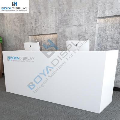 Modern art front counter reception desk for hotel check stand
